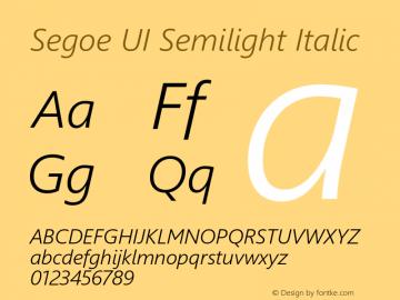 Segoe UI Semilight Italic Version 5.32图片样张