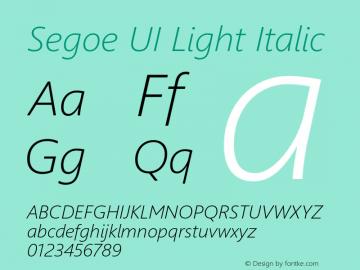 Segoe UI Light Italic Version 5.32图片样张