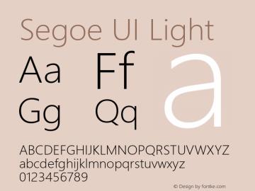 Segoe UI Light Version 5.62图片样张