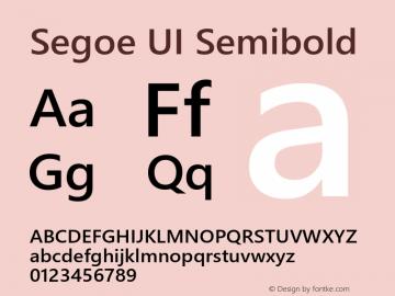 Segoe UI Semibold Version 5.62图片样张