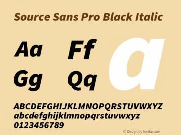 Source Sans Pro Black Italic Version 1.095;hotconv 1.0.109;makeotfexe 2.5.65596图片样张