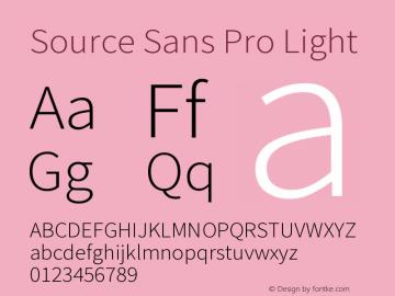 Source Sans Pro Light Version 2.045;hotconv 1.0.109;makeotfexe 2.5.65596图片样张