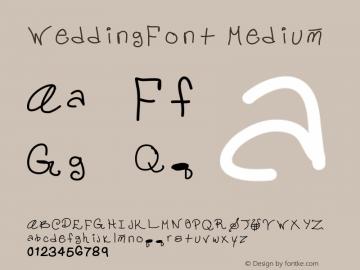 WeddingFont Medium Version 001.000 Font Sample