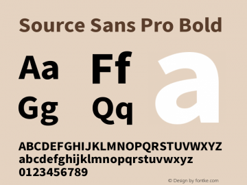 Source Sans Pro Bold Version 2.045;hotconv 1.0.109;makeotfexe 2.5.65596图片样张