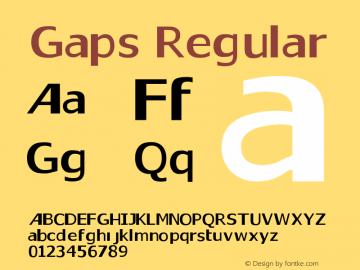 Gaps Regular Version 1.0图片样张