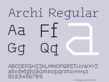 Archi Regular Version 1.002图片样张