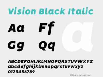 Vision Black Italic Version 1.000图片样张