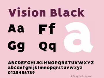 Vision Black Version 1.000;PS 001.000;hotconv 1.0.88;makeotf.lib2.5.64775图片样张