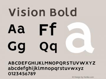 Vision Bold Version 1.000;PS 001.000;hotconv 1.0.88;makeotf.lib2.5.64775图片样张