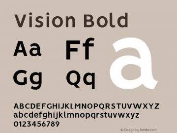 Vision Bold Version 1.000图片样张