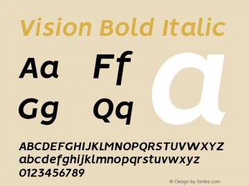 Vision Bold Italic Version 1.000图片样张