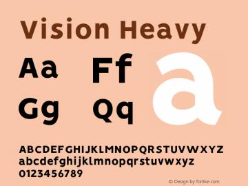 Vision Heavy Version 1.000;PS 001.000;hotconv 1.0.88;makeotf.lib2.5.64775图片样张