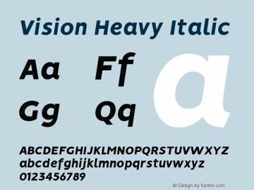 Vision Heavy Italic Version 1.000图片样张
