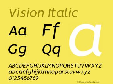 Vision Italic Version 1.000图片样张
