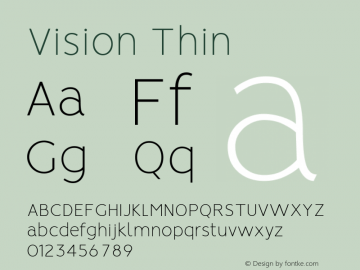 Vision Thin Version 1.000图片样张