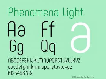 Phenomena Light Version 1.000;PS 001.000;hotconv 1.0.88;makeotf.lib2.5.64775图片样张