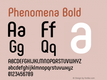 Phenomena Bold Version 1.000图片样张