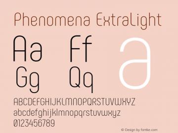 Phenomena ExtraLight Version 1.000图片样张