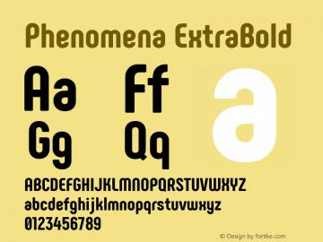 Phenomena ExtraBold Version 1.000图片样张