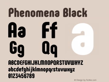 Phenomena Black Version 1.000;PS 001.000;hotconv 1.0.88;makeotf.lib2.5.64775图片样张