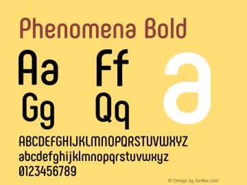 Phenomena Bold Version 1.000;PS 001.000;hotconv 1.0.88;makeotf.lib2.5.64775图片样张