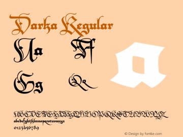 Darka Regular Version 1.000 | w-rip DC20190505图片样张