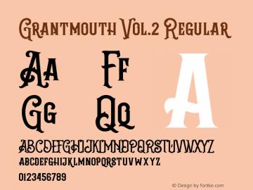 Grantmouth Vol.2 Regular Version 1.000图片样张