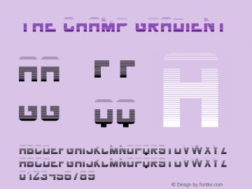 THE CHAMP Gradient Version 1.002;Fontself Maker 3.1.2图片样张