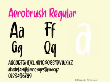 Aerobrush Version 1.000;PS 001.001;hotconv 1.0.56图片样张