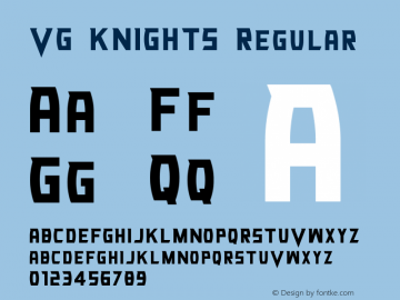VG KNIGHTS Version 0.00;April 16, 2019;FontCreator 11.5.0.2430 32-bit图片样张