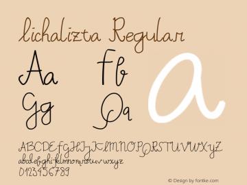 Lichalizta Version 1.00;May 1, 2019;FontCreator 11.5.0.2422 64-bit图片样张