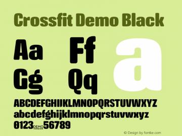 Crossfit Demo Black Version 1.000;PS 001.000;hotconv 1.0.88;makeotf.lib2.5.64775图片样张