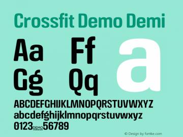 Crossfit Demo Demi Version 1.000;PS 001.000;hotconv 1.0.88;makeotf.lib2.5.64775图片样张