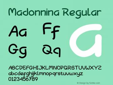Madonnina Version 1.00;May 12, 2019;FontCreator 11.5.0.2427 64-bit图片样张