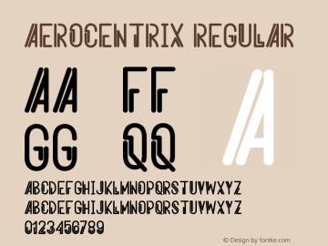 Aerocentrix Version 1.002;Fontself Maker 3.1.1图片样张