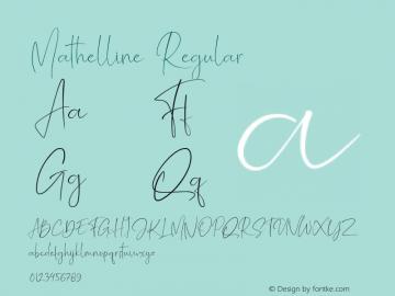 Mathelline Version 1.00;May 13, 2019;FontCreator 11.5.0.2430 64-bit图片样张