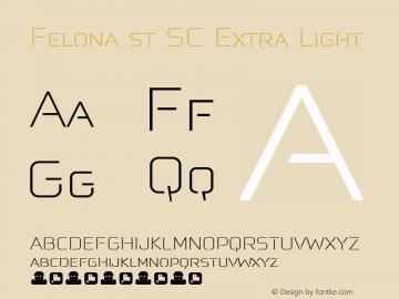 Felona st SC Extra Light Version 1.185图片样张