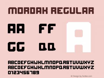 Mordak Version 1.00;May 13, 2019;FontCreator 11.0.0.2408 32-bit图片样张