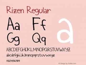 Rizen Regular Version 1.000图片样张