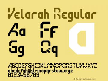 Velarah Regular Version 1.000图片样张