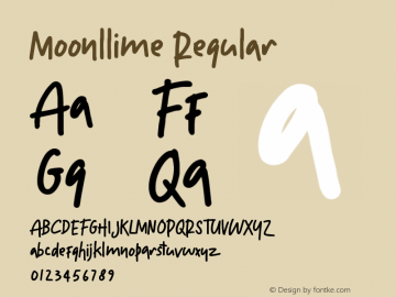 Moonllime Version 1.002;Fontself Maker 3.1.1图片样张