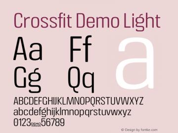 Crossfit Demo Light Version 1.000;PS 001.000;hotconv 1.0.88;makeotf.lib2.5.64775图片样张