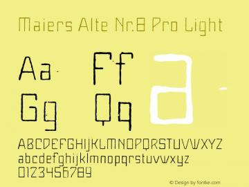 Maiers Alte Nr.8 Pro Light Version 3.007图片样张