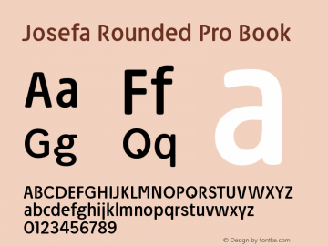 Josefa Rounded Pro Book Version 1.007图片样张