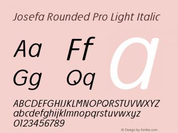 Josefa Rounded Pro Light Italic Version 1.011图片样张
