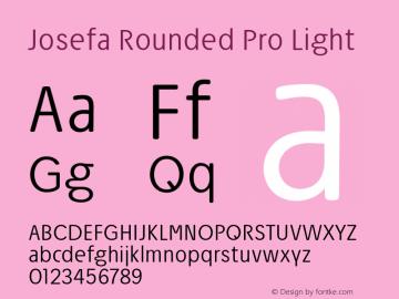 Josefa Rounded Pro Light Version 1.007图片样张