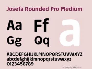 Josefa Rounded Pro Medium Version 1.007图片样张