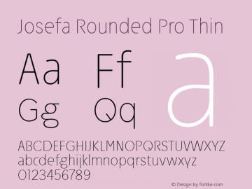 Josefa Rounded Pro Thin Version 1.009图片样张
