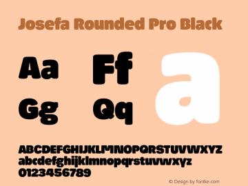 Josefa Rounded Pro Black Version 1.007图片样张