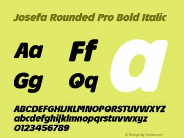 Josefa Rounded Pro Bold Italic Version 1.011图片样张